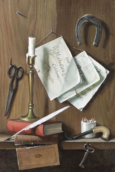 A. Bianchi  (American, 20th Century)  Still Life (100 Melodies)