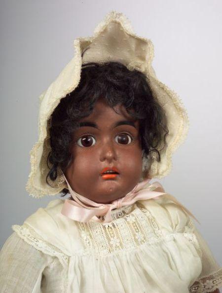 Kestner Black Bisque Socket Head Girl Doll