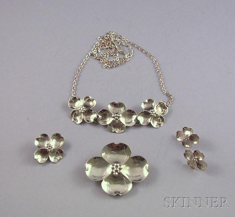 Sterling Silver Floral Suite