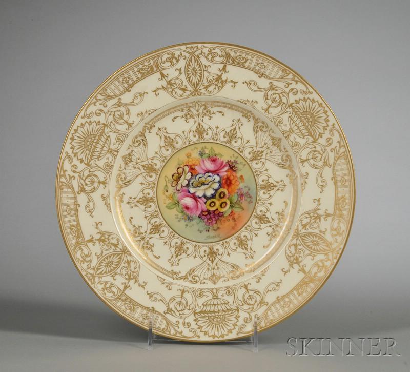 Ten Royal Worcester Bone China Service Plates