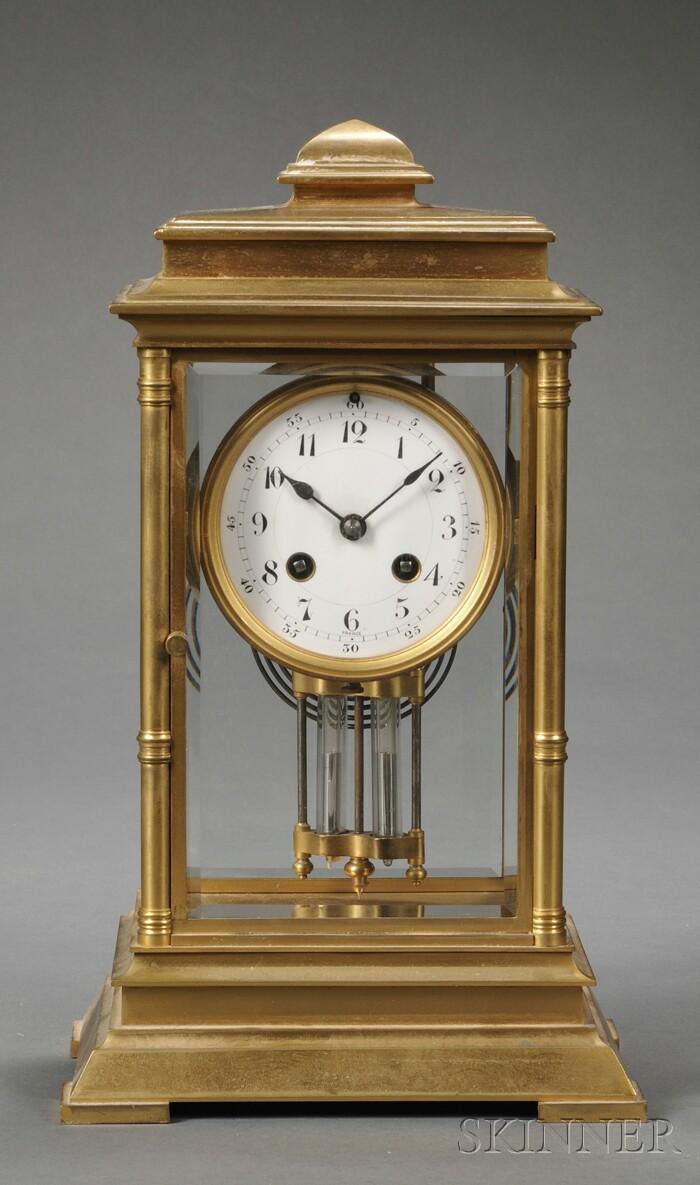 Japy Freres Gilt-metal Mantel Clock