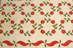 Floral Appliqued Cotton Quilt