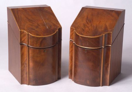 Pair of George III-style Mahogany Knife Boxes