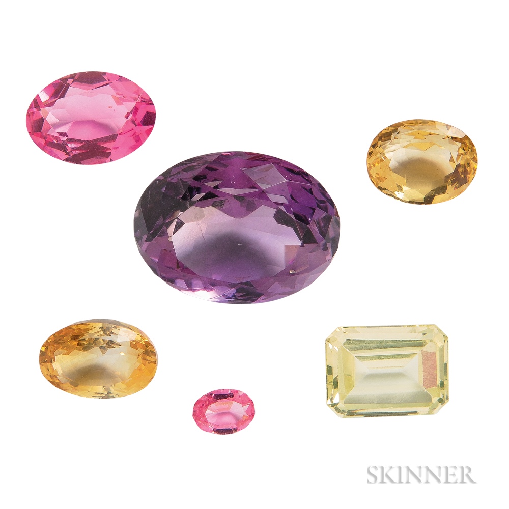 Group of Unmounted Gemstones