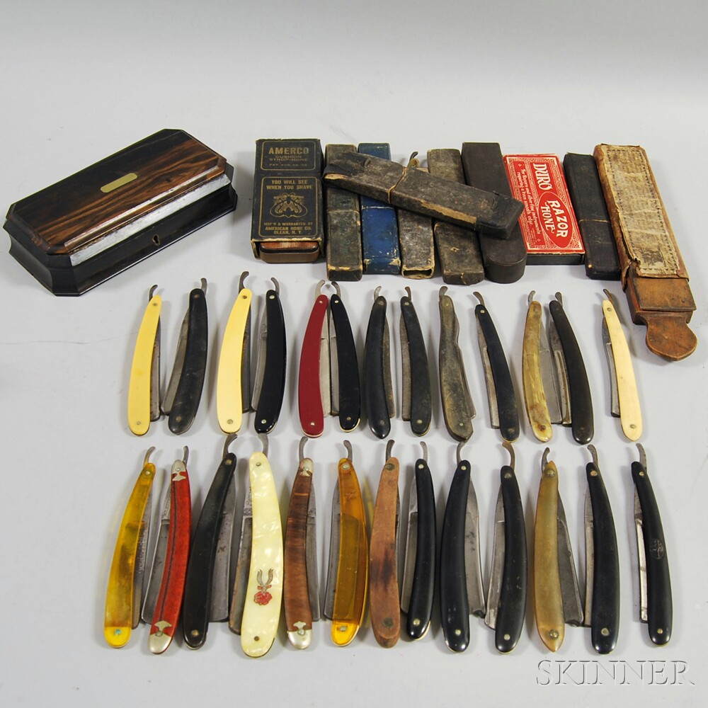 Large Collection of Mostly Vintage Straight Razors
