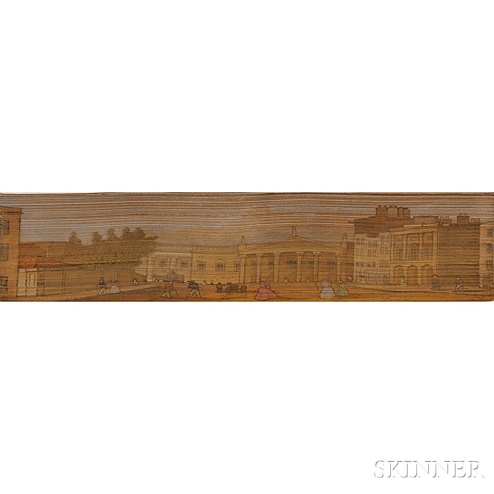 Fore-edge Paintings, College Street Dublin; and Parliament Square, Trinity College Dublin; Two Volumes.