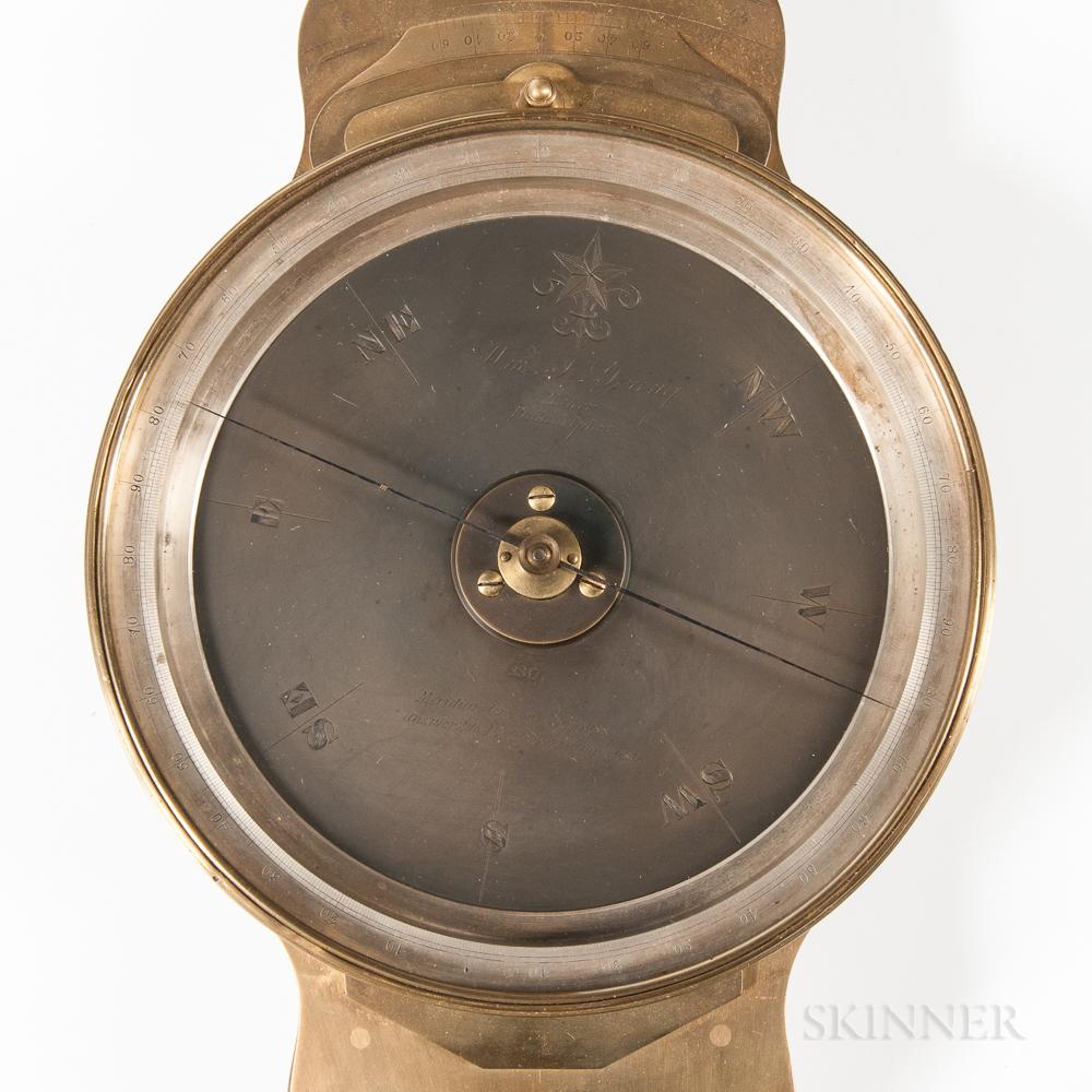 Unusual William J. Young Vernier Compass