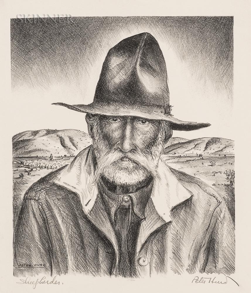 Peter Hurd (American, 1904-1984)      Sheepherder