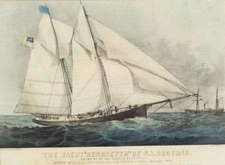 Currier & Ives, publishers (American 1857-1907)      The Yacht 'Henrietta' of N.Y. 205 tons.