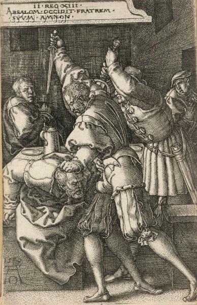 Heinrich Aldegrever (German, 1502-circa 1561)      Absalom Killing His Brother Amnon
