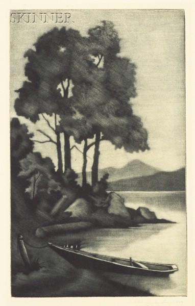 John Taylor Arms (American, 1887-1953)      Moonlight, Rangeley Lake