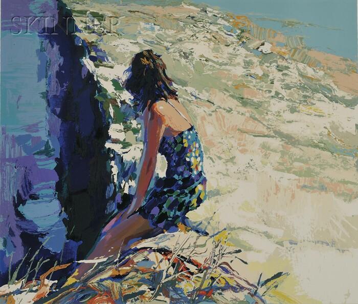 Nicola Simbari (Italian, b. 1927)      On the Sea Wall