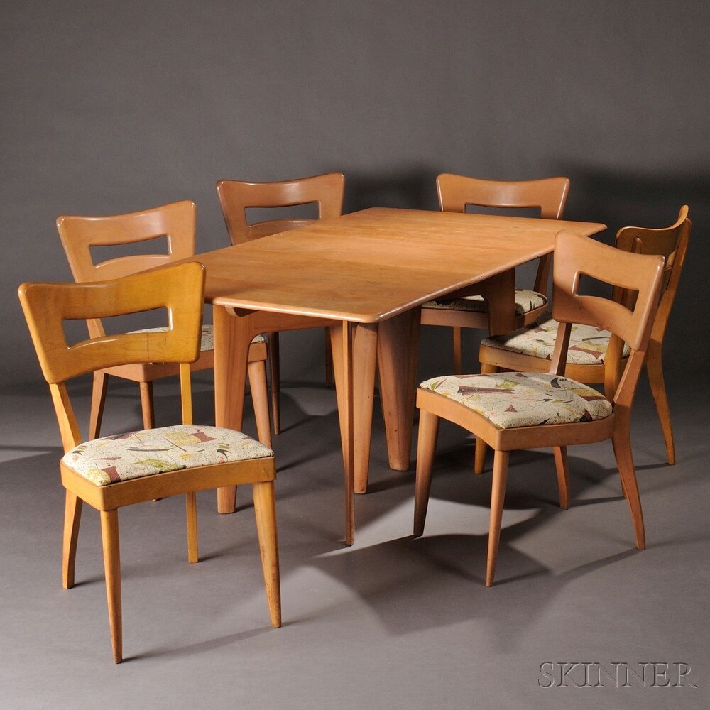 Charmant Heywood Wakefield Dining Table And Six Dogbone Chairs