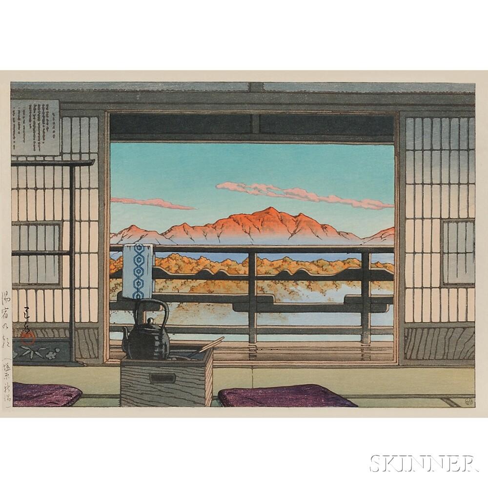 Kawase Hasui (1883-1957), Three Color Woodblocks
