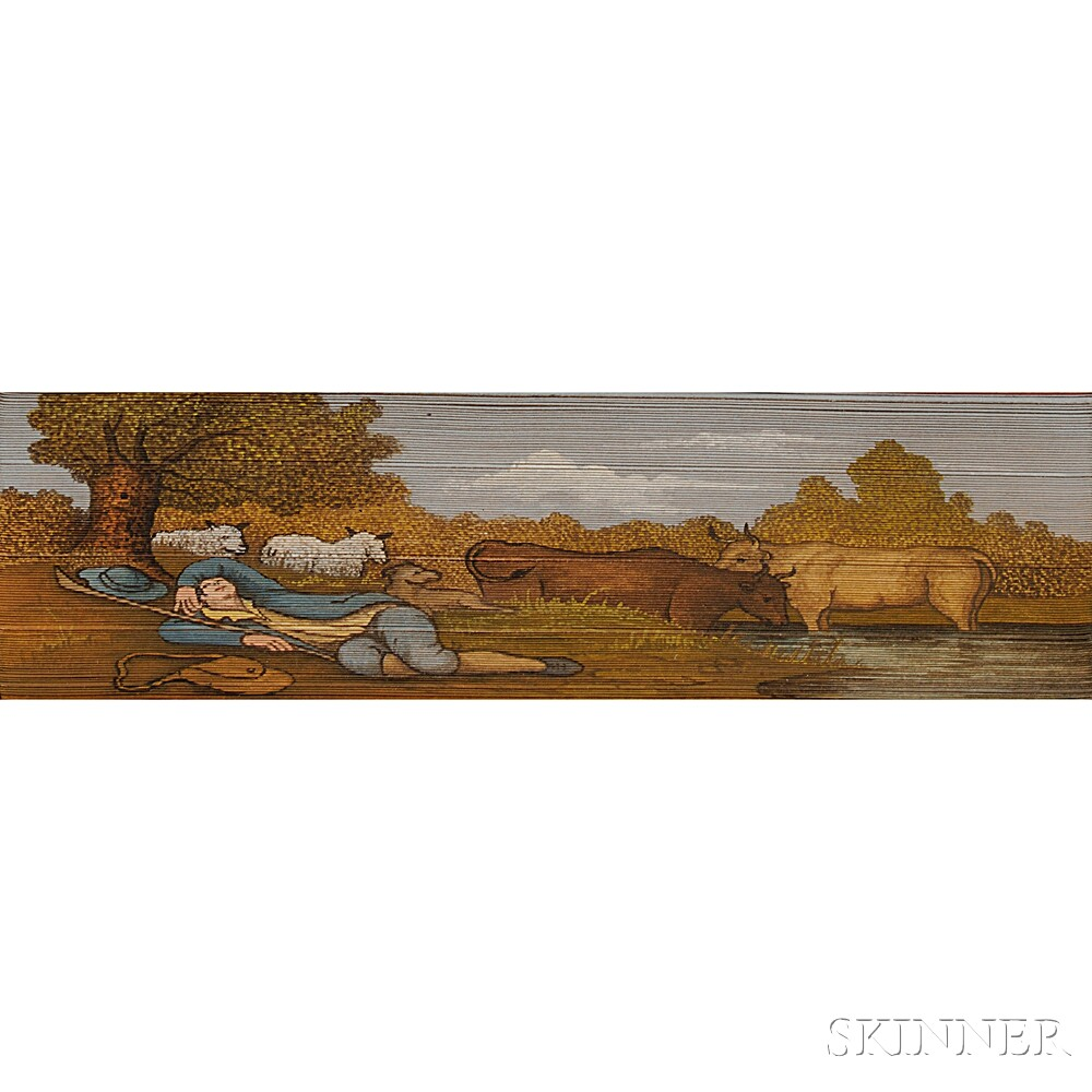 Fore-edge Paintings, Summer and Autumn, Two Volumes.