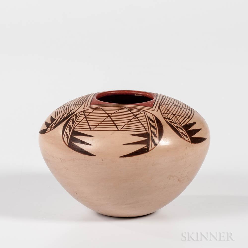 Contemporary Hopi Polychrome Pottery Jar