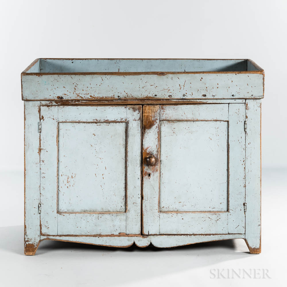 Powder Blue-painted Dry Sink