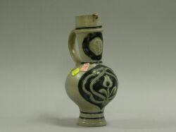 Alsace Cobalt Glazed Stoneware Ewer.