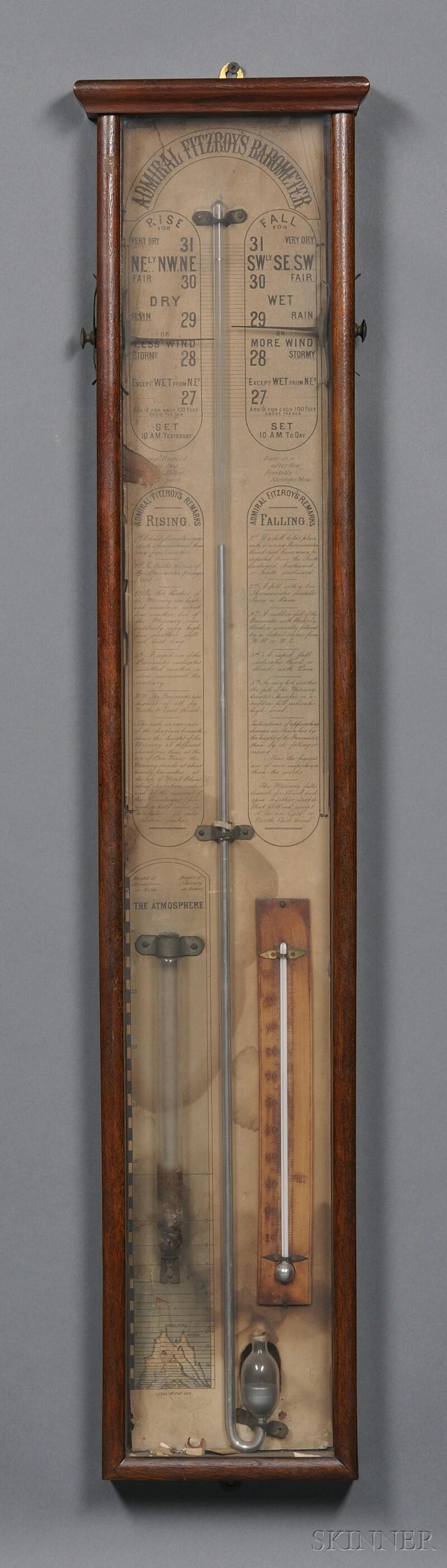 "Mahogany Cased ""Admiral Fitzroy's Barometer,"""