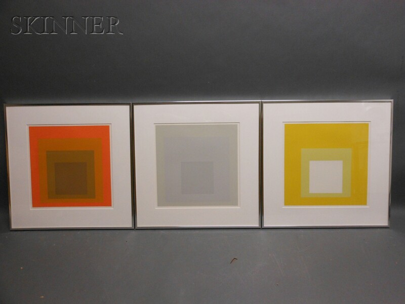 Josef Albers (German/American, 1888-1976)      Three Images from DIE OBERFLÄCHE  : Concord