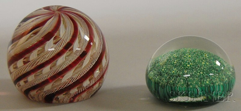 Two Art Glass Paperweights