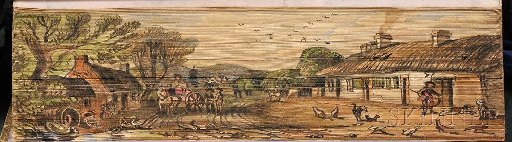 Fore-edge Paintings, Robert Burns's Cottage.
