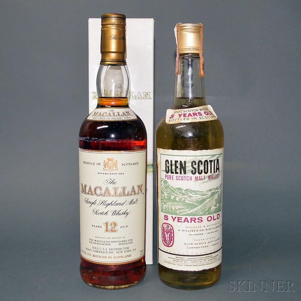 Mixed Single Malt Scotch, 2 750ml bottles