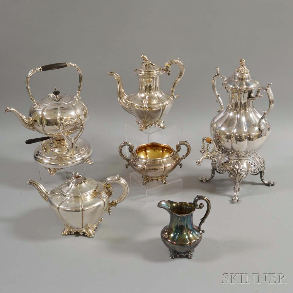 Six-piece Silver-plated Coffee Set