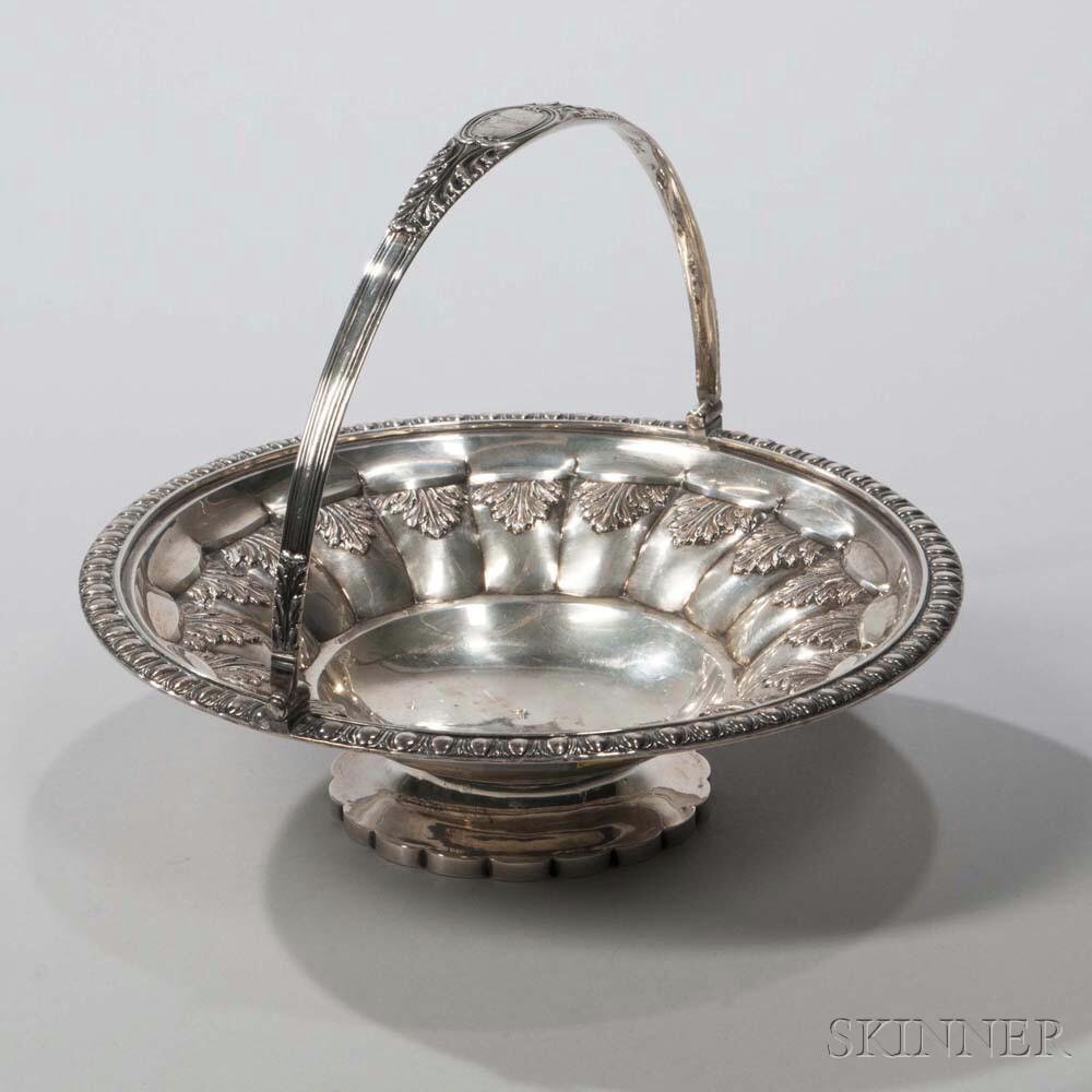 George IV Sterling Silver Basket