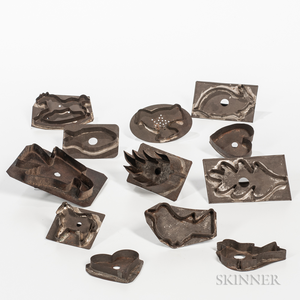 Twelve Tin Cookie Cutters