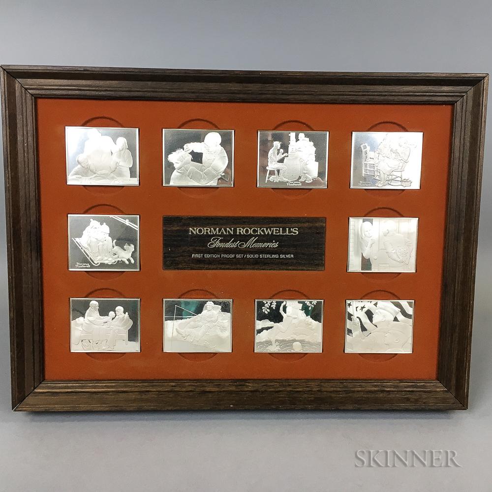 Norman Rockwell Commemorative Silver Proof Set.     Estimate $200-400