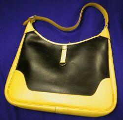 Leather and Amazonia Rubber Handbag