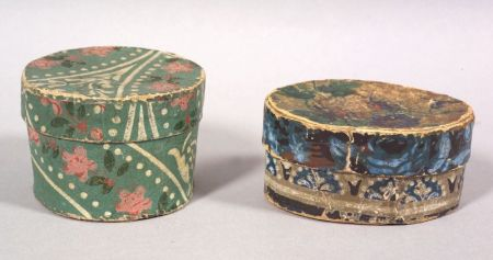 Two Small Wallpaper Covered Bandboxes Sale Number 2308
