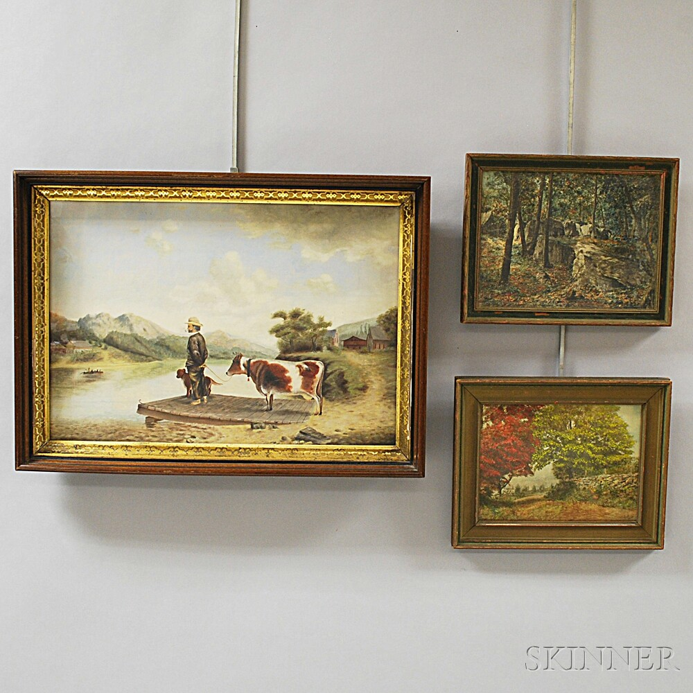 Three Framed Works
