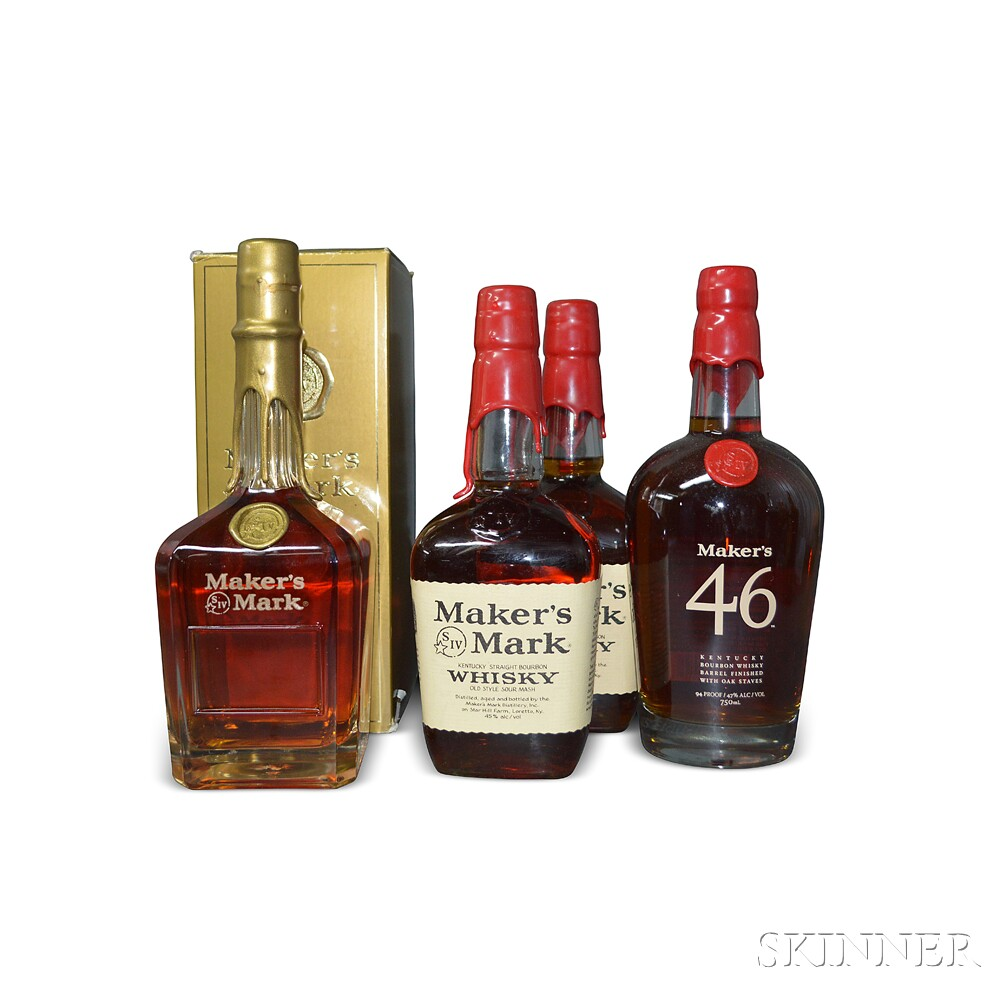 Mixed Makers Mark, 4 750ml bottles