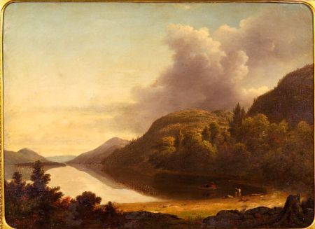 Thomas Addison Richards (American, 1820-1900)    Setting Off/A Mountain Lake View