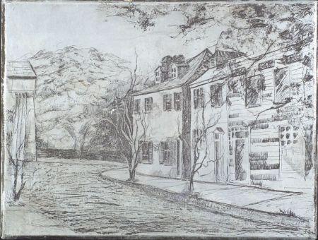 American School, 20th Century    A Street in Charleston.