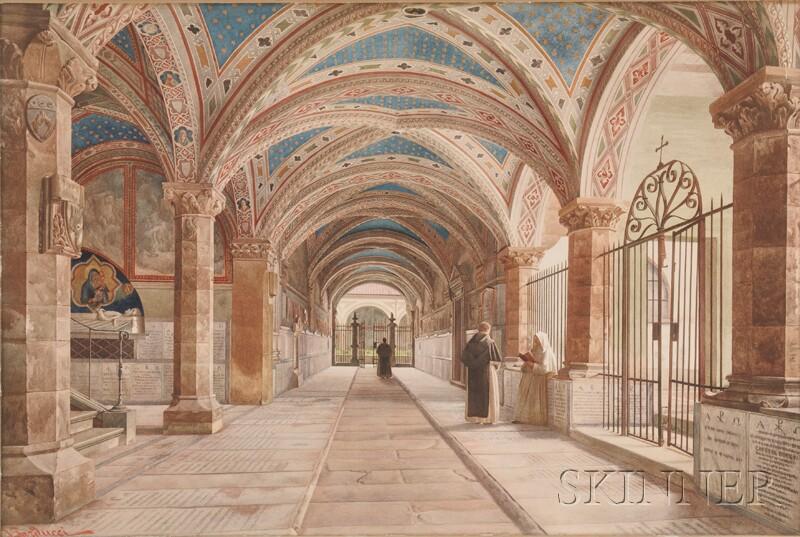 N. Barducci (Italian, 19th Century)      In the Cloister