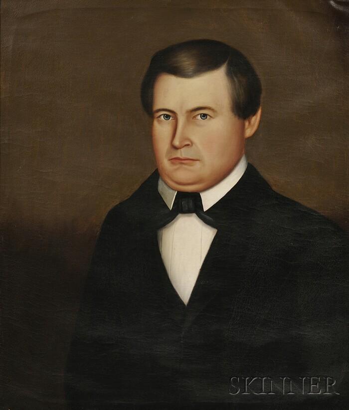 Horace Bundy (American, 1814-1883)      Portrait of a Ludlow, Vermont, Gentleman.