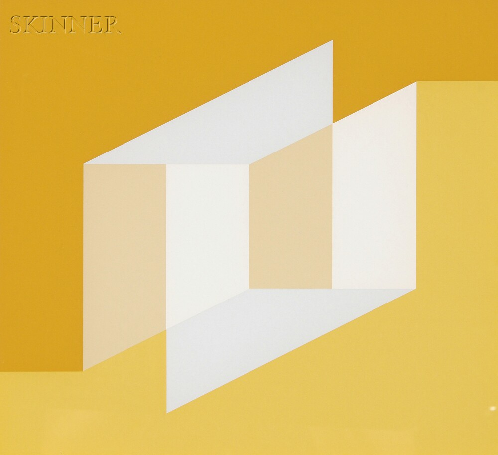 Josef Albers (German/American, 1888-1976)      Never Before f