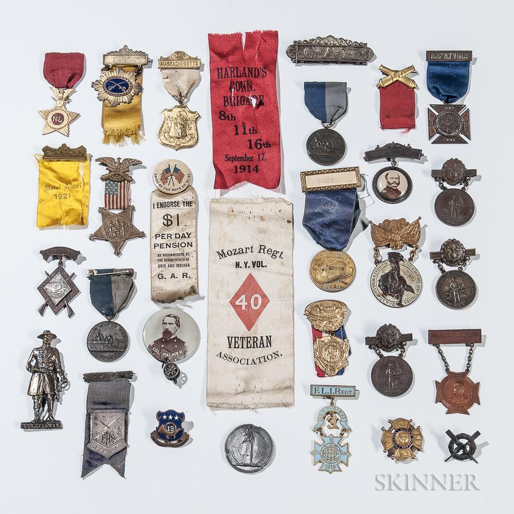 Group of Civil War Veteran's Medals