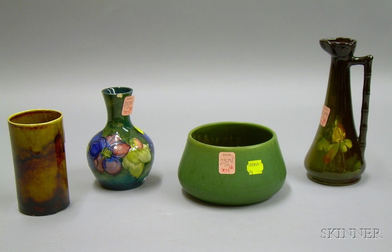 Four Pieces of Art Pottery