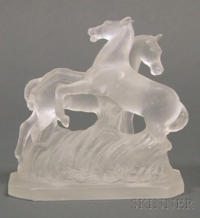 Frederick Carder (1863-1963) Horse Sculpture
