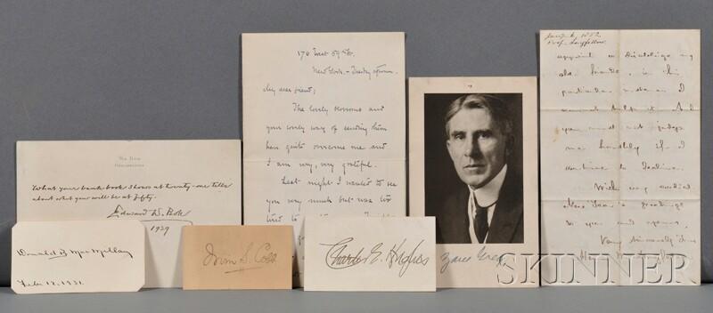 Literary Signatures, Ten Assorted Pieces: