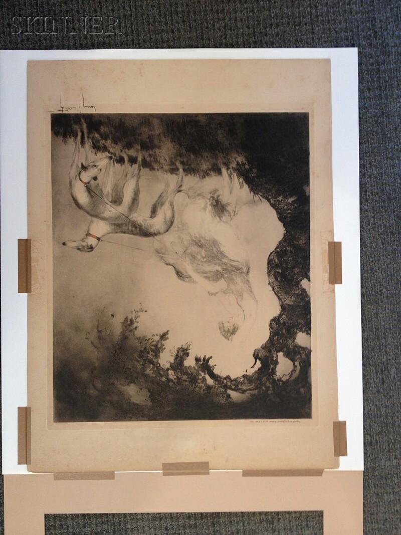 Louis Icart (French, 1888-1950)      Coup de Vent