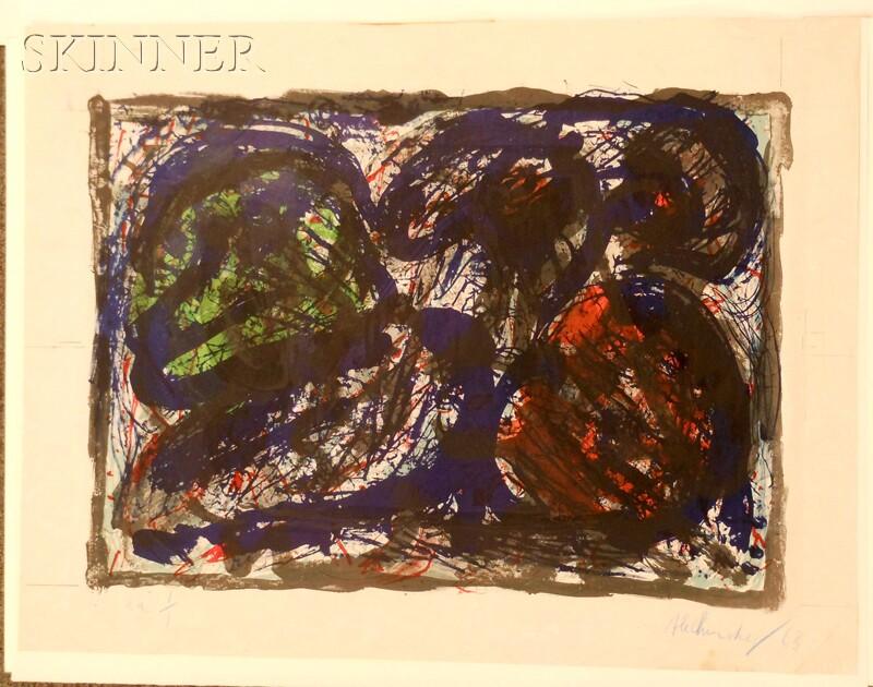Pierre Alechinsky (Belgian, b. 1927)      Untitled