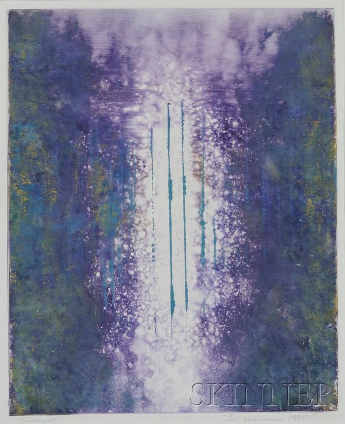 Irene Valincius (German/American, b. 1948)      Two Works: Light Series: X