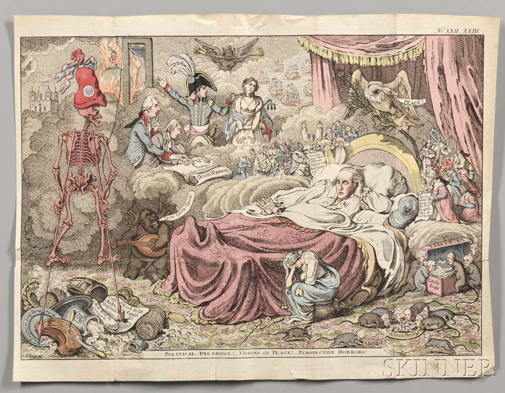 Gillray, James (1756-1815) Political Dreamings! Visions of Peace! Perspective Horrors!