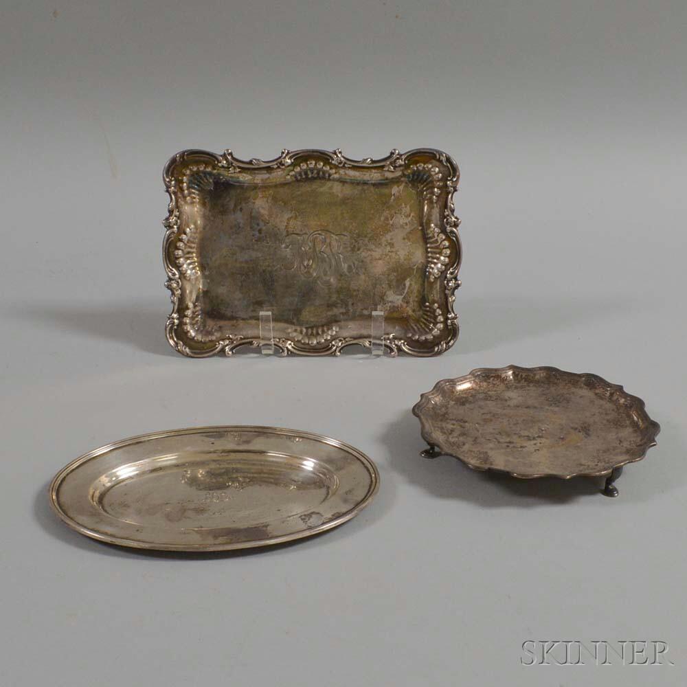 Three American Sterling Silver Trays