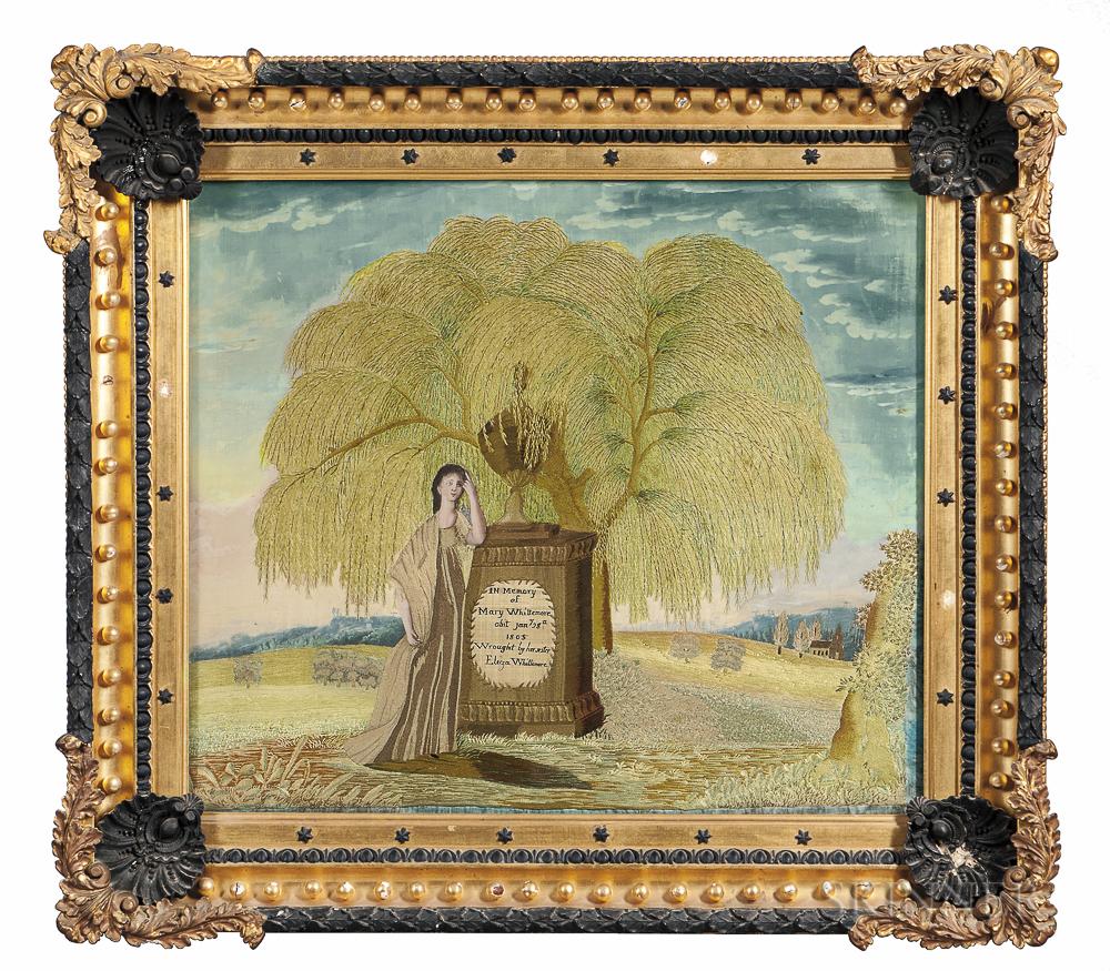 Elizabeth Whittemore Needlework and Painted Memorial